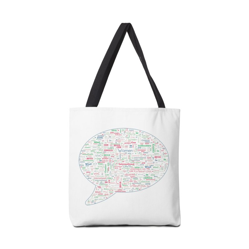 WinC Con 2018 Blue Accessories Tote Bag Bag by Women in Comics Collective Artist Shop
