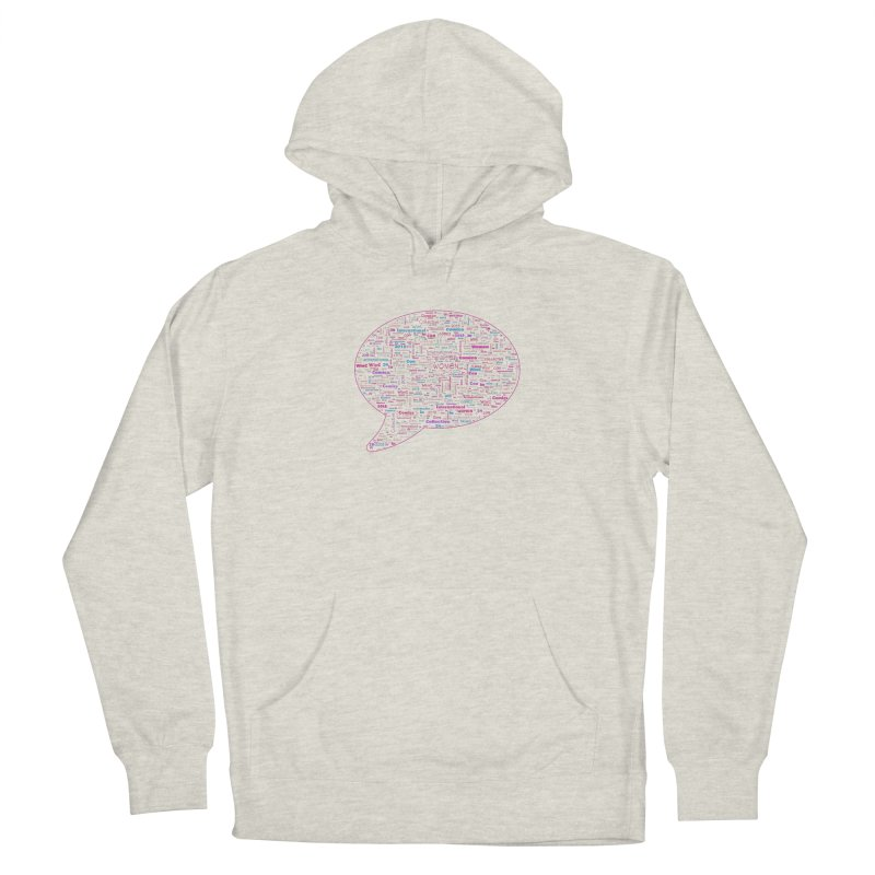 WinC Con 2018 Pink Women's French Terry Pullover Hoody by Women in Comics Collective Artist Shop