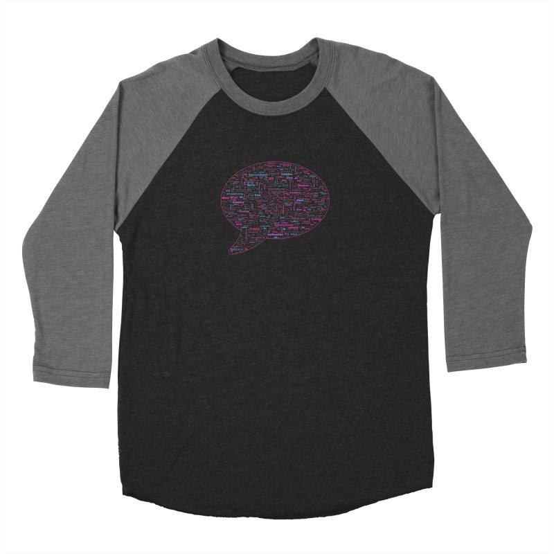 WinC Con 2018 Pink Men's Baseball Triblend Longsleeve T-Shirt by Women in Comics Collective Artist Shop