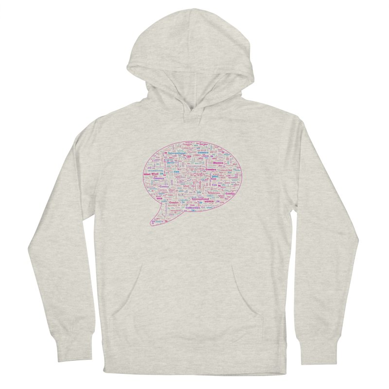 WinC Con 2018 Pink Men's French Terry Pullover Hoody by Women in Comics Collective Artist Shop