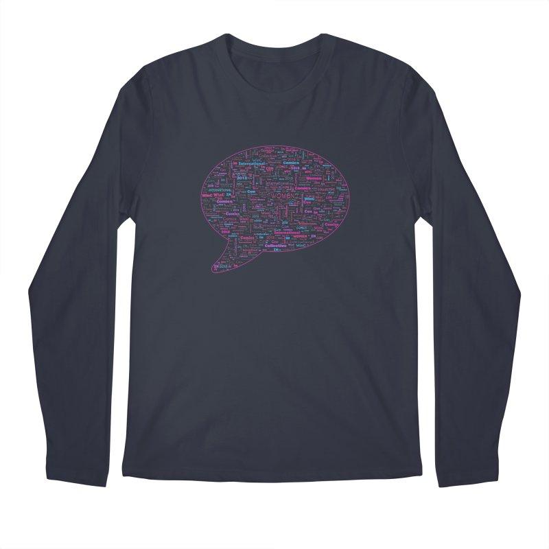 WinC Con 2018 Pink Men's Regular Longsleeve T-Shirt by Women in Comics Collective Artist Shop