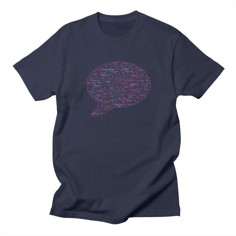 WinC Con 2018 Pink Men's Regular T-Shirt by Women in Comics Collective Artist Shop
