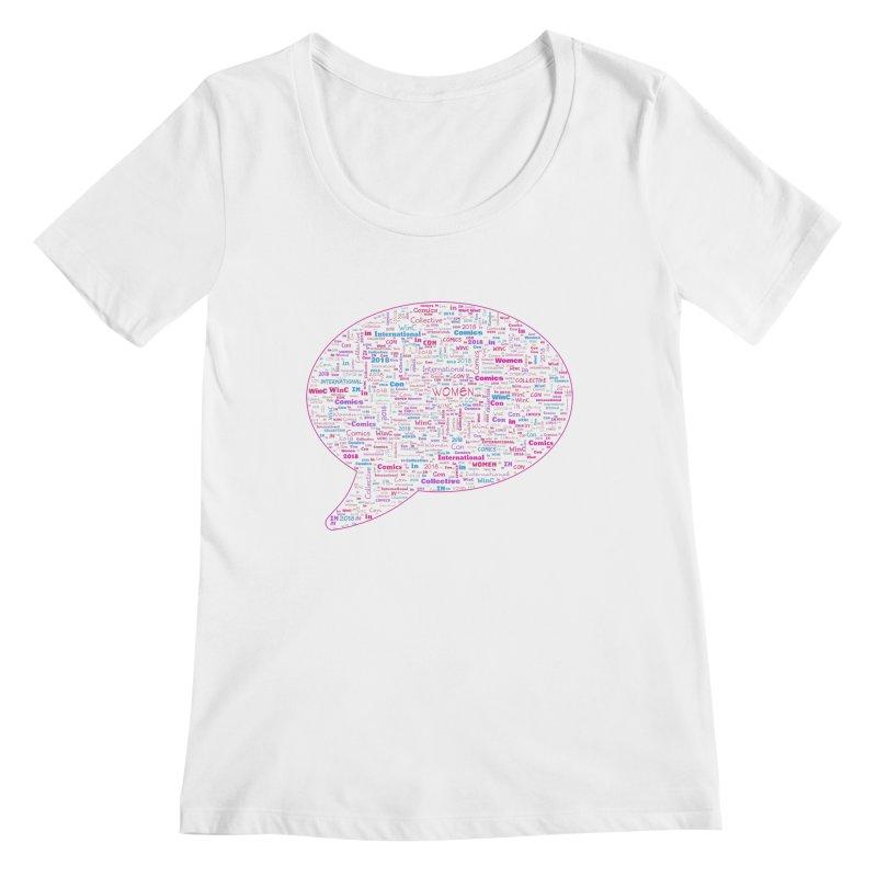 WinC Con 2018 Pink Women's Regular Scoop Neck by Women in Comics Collective Artist Shop