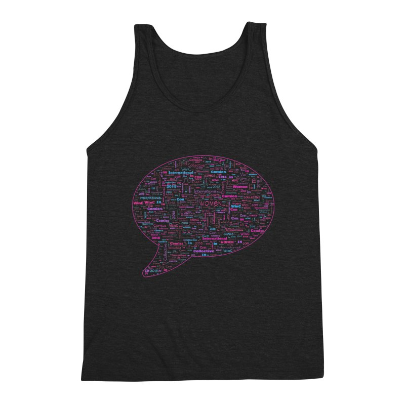 WinC Con 2018 Pink Men's Triblend Tank by Women in Comics Collective Artist Shop