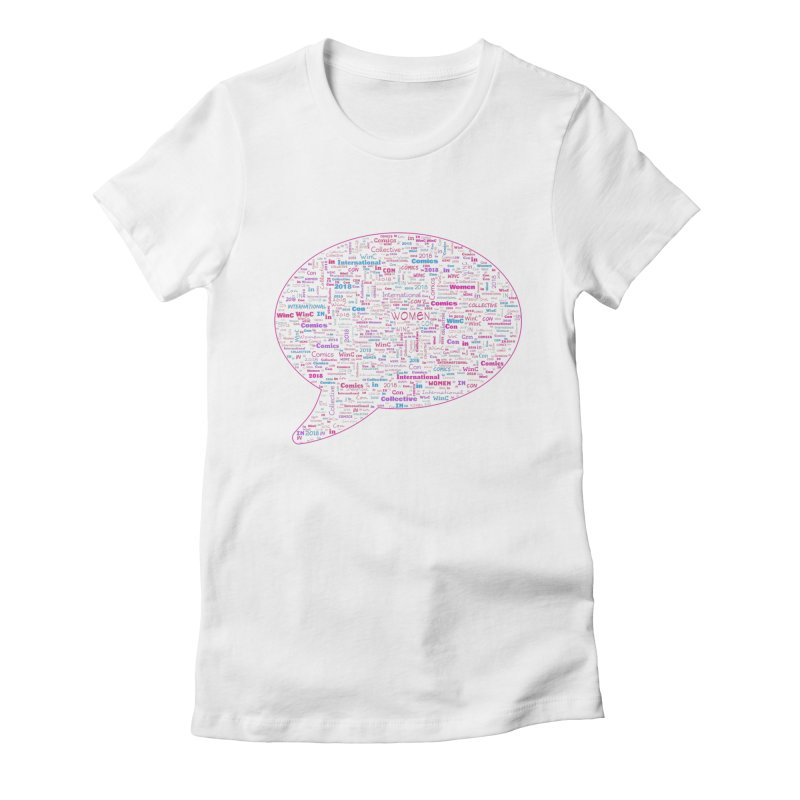 WinC Con 2018 Pink Women's Fitted T-Shirt by Women in Comics Collective Artist Shop
