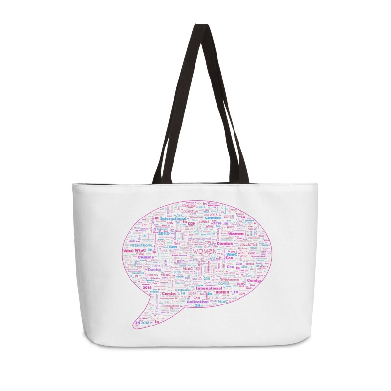 WinC Con 2018 Pink Accessories Weekender Bag Bag by Women in Comics Collective Artist Shop