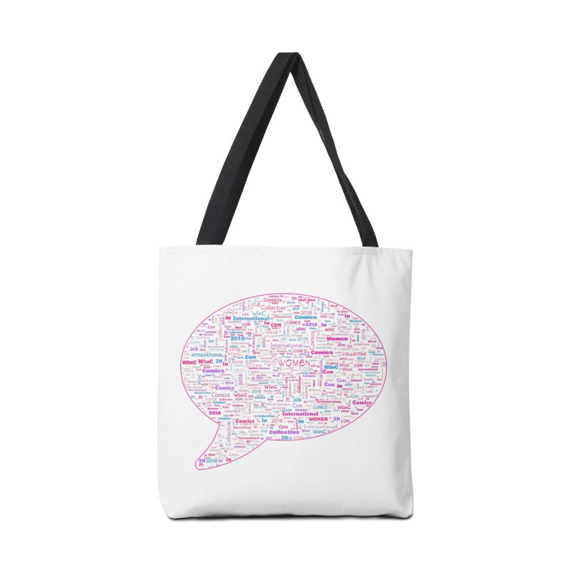 WinC Con 2018 Pink Accessories Tote Bag Bag by Women in Comics Collective Artist Shop