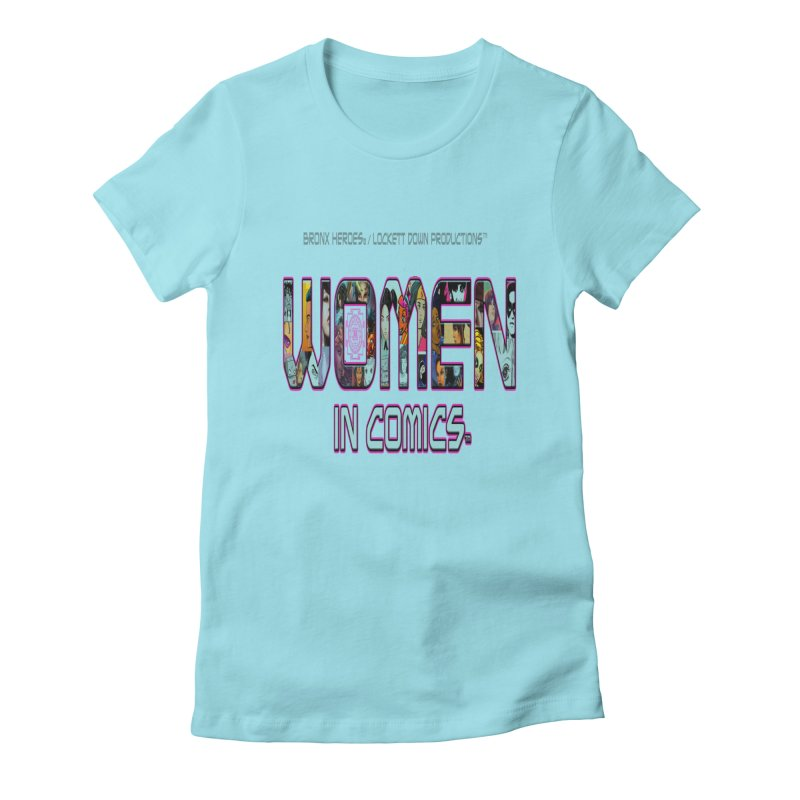 WinC2 Women's Fitted T-Shirt by Women in Comics Collective Artist Shop