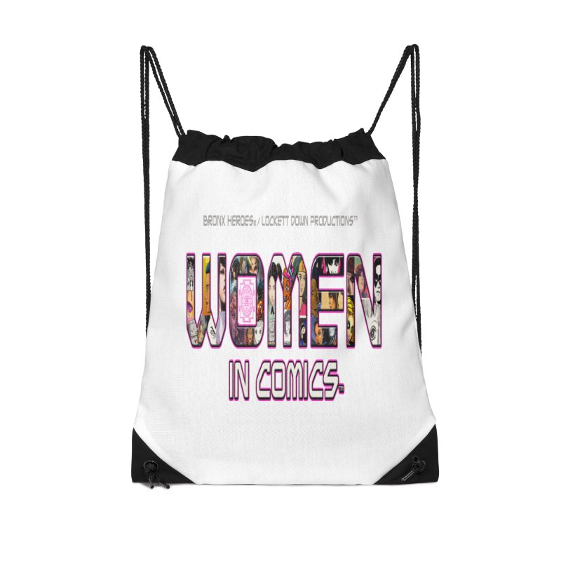 WinC2 Accessories Drawstring Bag Bag by Women in Comics Collective Artist Shop