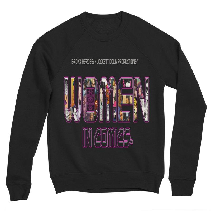 WinC Logo Men's Sponge Fleece Sweatshirt by Women in Comics Collective Artist Shop