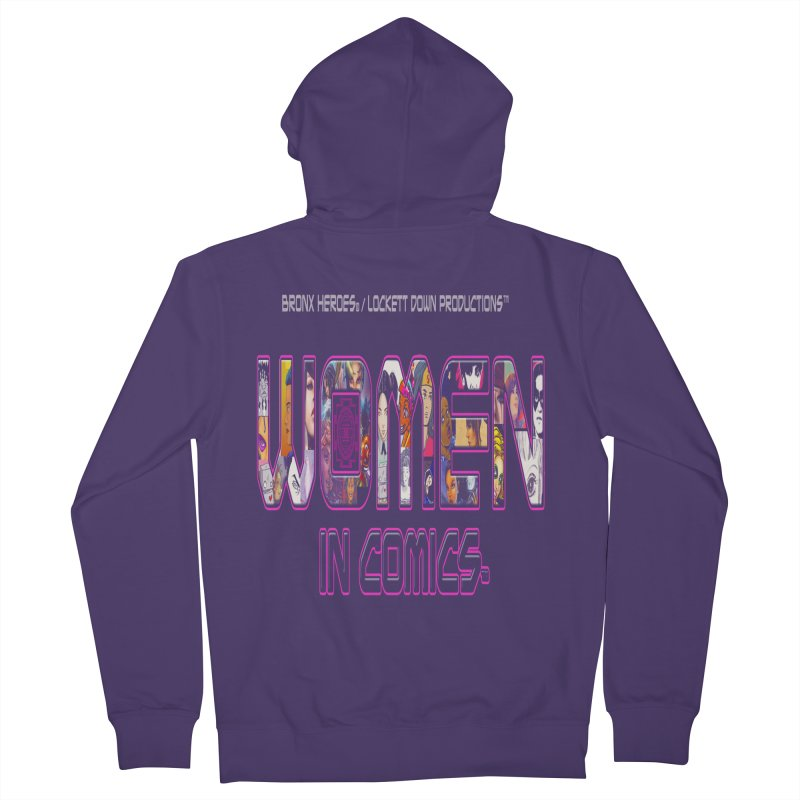 WinC Logo Women's French Terry Zip-Up Hoody by Women in Comics Collective Artist Shop