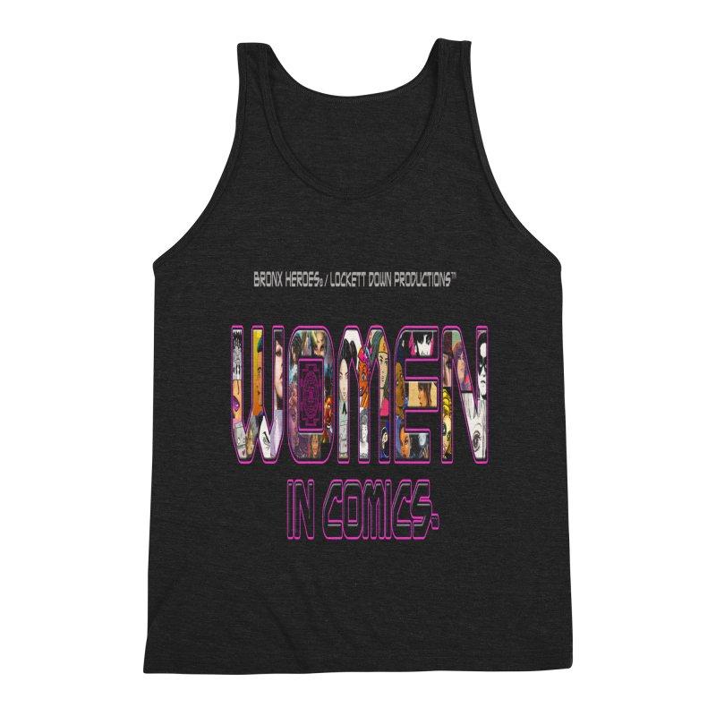 WinC Logo Men's Triblend Tank by Women in Comics Collective Artist Shop