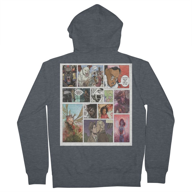 Sheroes Women's French Terry Zip-Up Hoody by Women in Comics Collective Artist Shop
