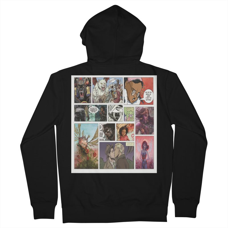 Sheroes Men's French Terry Zip-Up Hoody by Women in Comics Collective Artist Shop