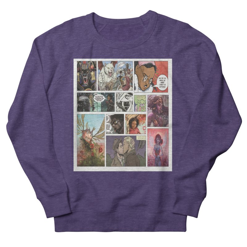 Sheroes Men's French Terry Sweatshirt by Women in Comics Collective Artist Shop