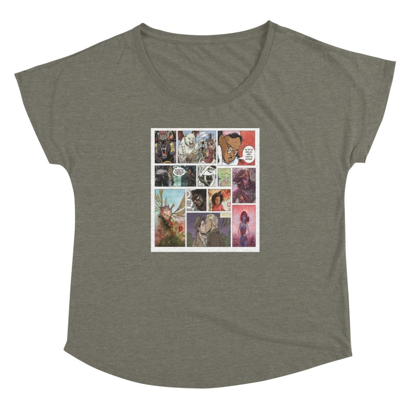 Sheroes Women's Dolman Scoop Neck by Women in Comics Collective Artist Shop
