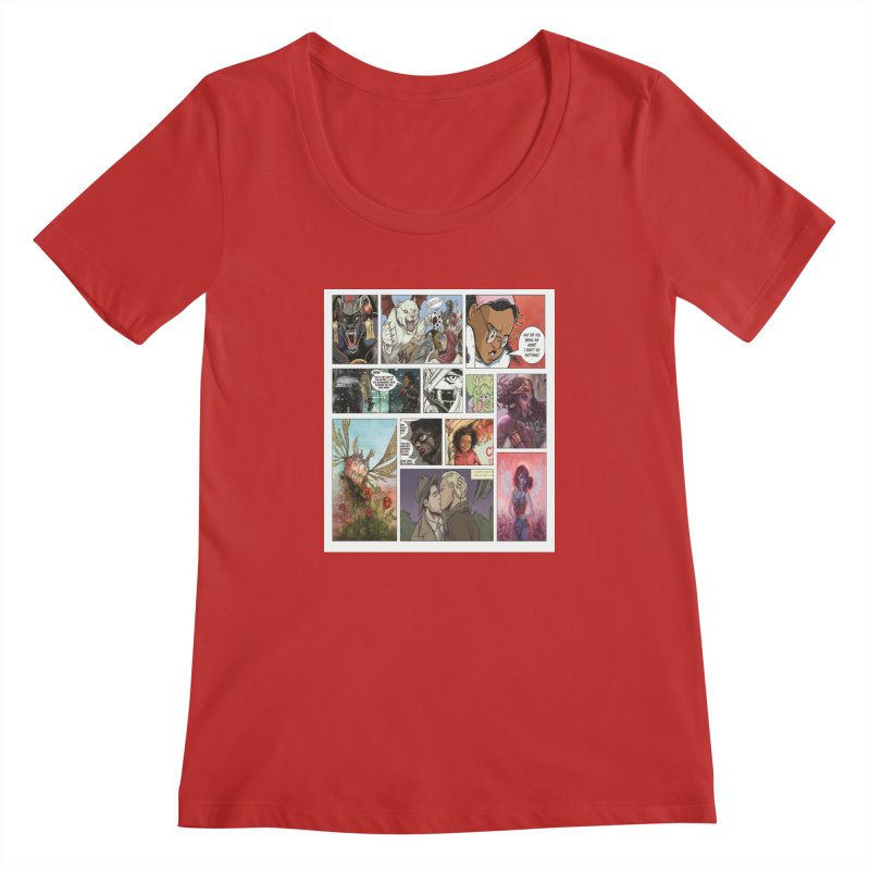 Sheroes Women's Scoopneck by Women in Comics Collective Artist Shop