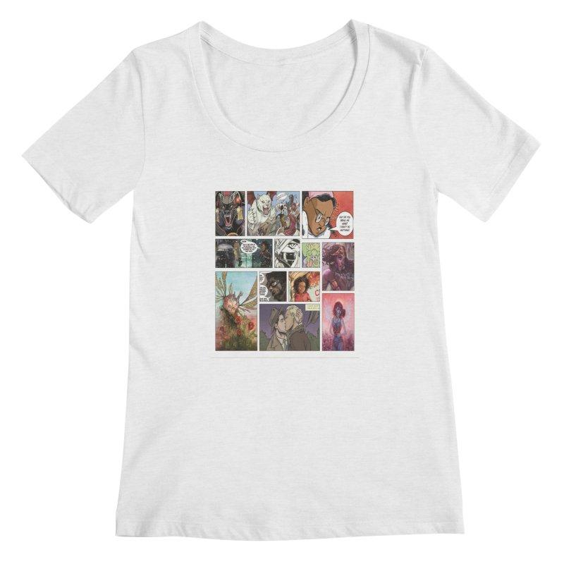 Sheroes Women's Regular Scoop Neck by Women in Comics Collective Artist Shop