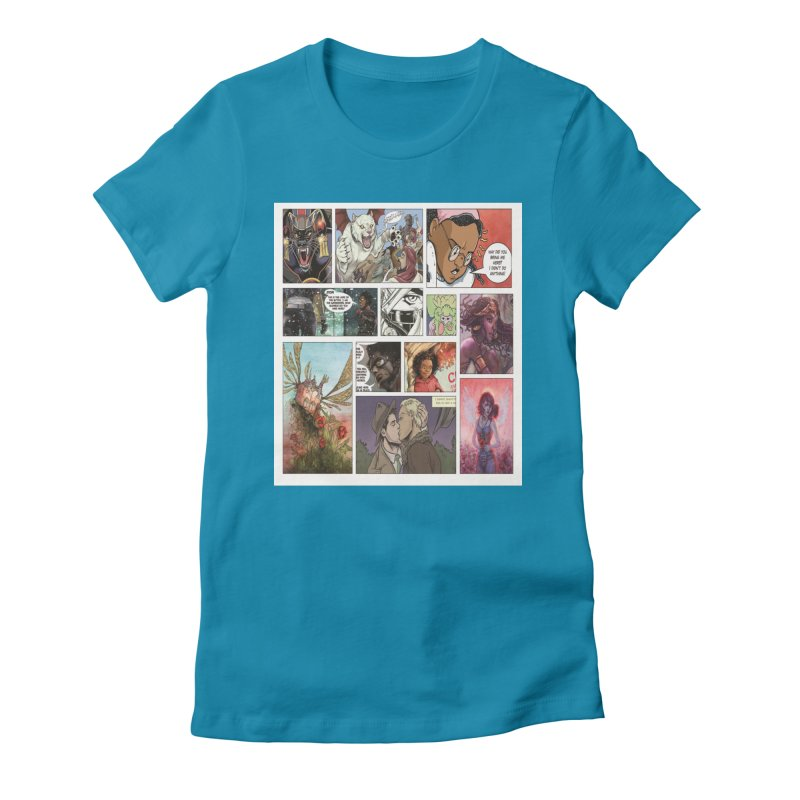 Sheroes Women's Fitted T-Shirt by Women in Comics Collective Artist Shop