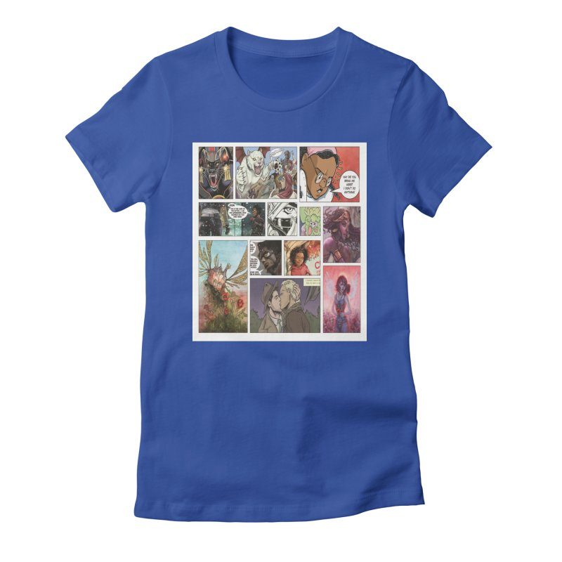 Sheroes Women's Fitted T-Shirt by womenincomicsnyc's Artist Shop