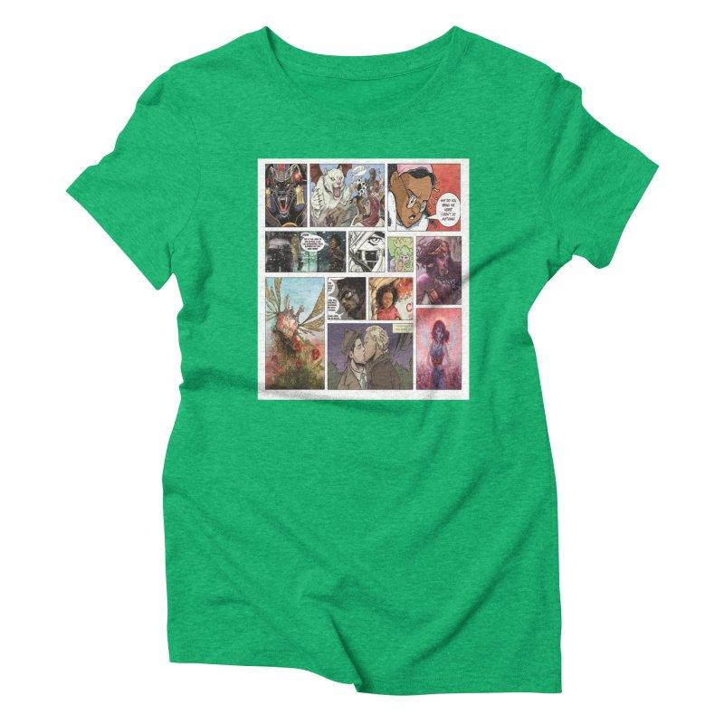 Sheroes Women's Triblend T-Shirt by Women in Comics Collective Artist Shop
