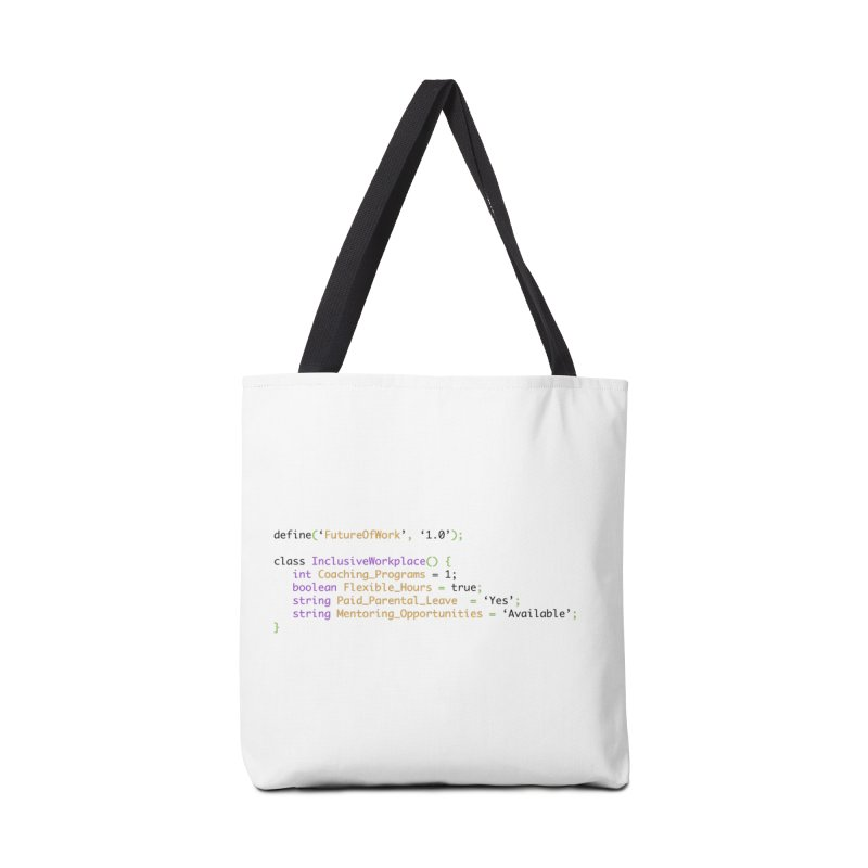 Future of work and inclusive workplace Accessories Tote Bag Bag by Women in Technology Online Store