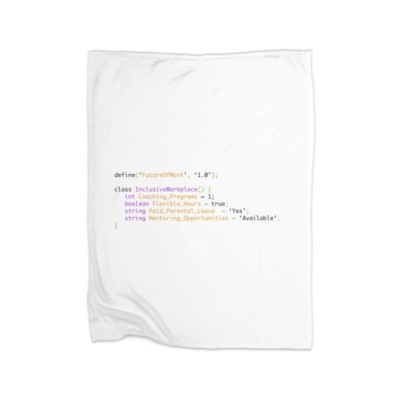 Future of work and inclusive workplace Home Fleece Blanket Blanket by Women in Technology Online Store