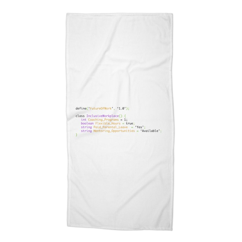 Future of work and inclusive workplace Accessories Beach Towel by Women in Technology Online Store