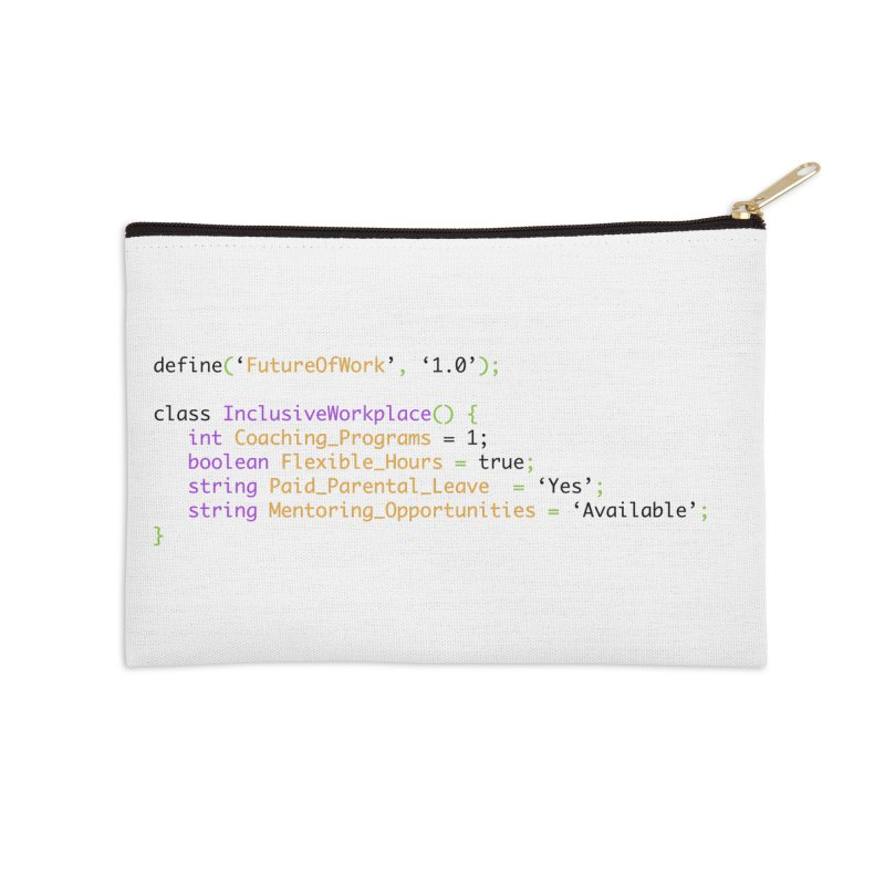 Future of work and inclusive workplace Accessories Zip Pouch by Women in Technology Online Store