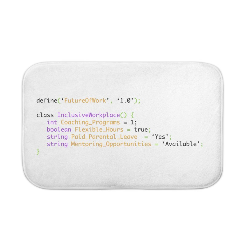 Future of work and inclusive workplace Home Bath Mat by Women in Technology Online Store