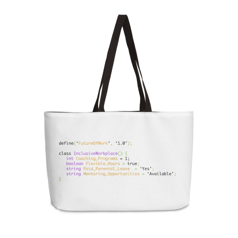 Future of work and inclusive workplace Accessories Weekender Bag Bag by Women in Technology Online Store