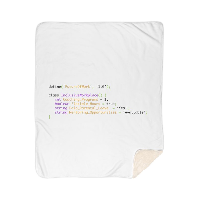 Future of work and inclusive workplace Home Sherpa Blanket Blanket by Women in Technology Online Store