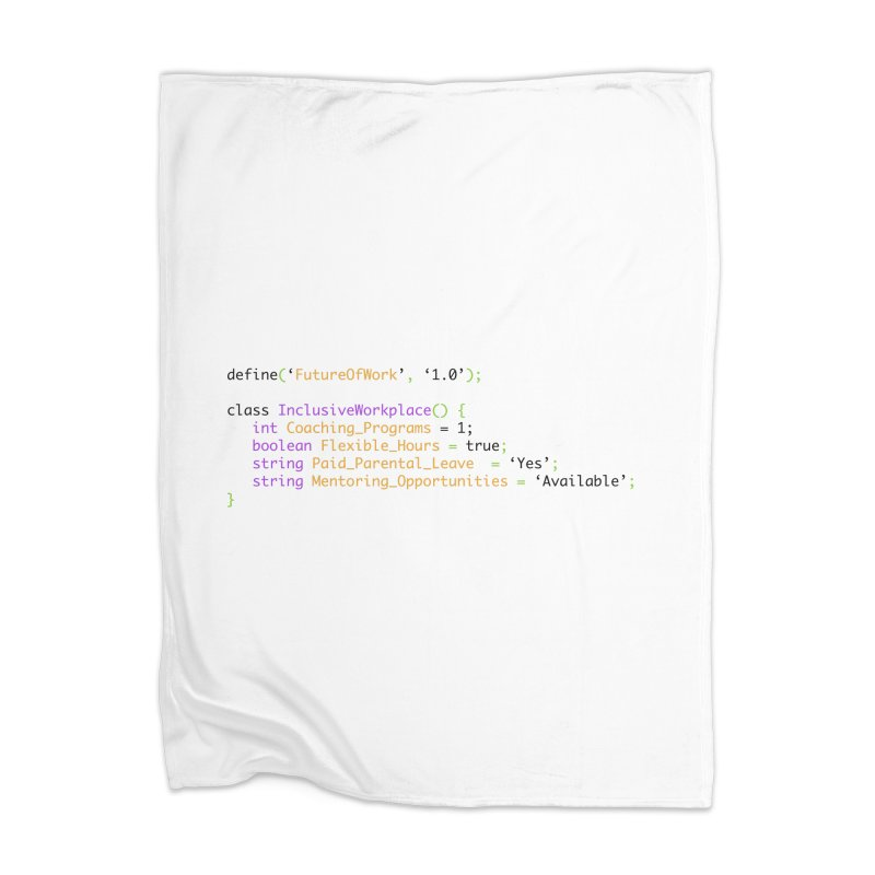 Future of work and inclusive workplace Home Blanket by Women in Technology Online Store