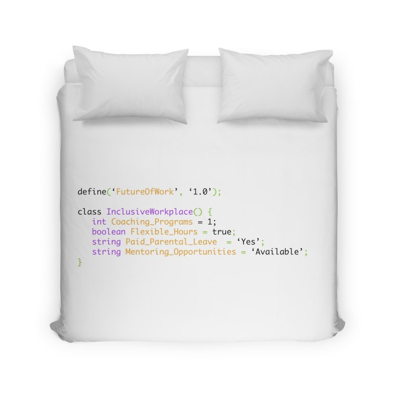 Future of work and inclusive workplace Home Duvet by Women in Technology Online Store