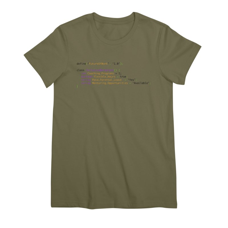 Future of work and inclusive workplace Women's Premium T-Shirt by Women in Technology Online Store