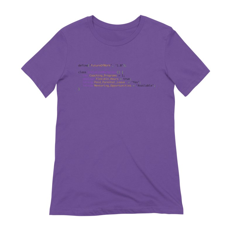 Future of work and inclusive workplace Women's Extra Soft T-Shirt by Women in Technology Online Store