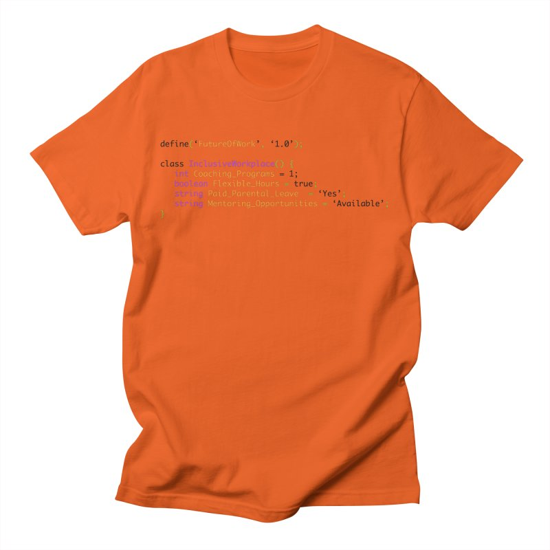Future of work and inclusive workplace Men's T-Shirt by Women in Technology Online Store