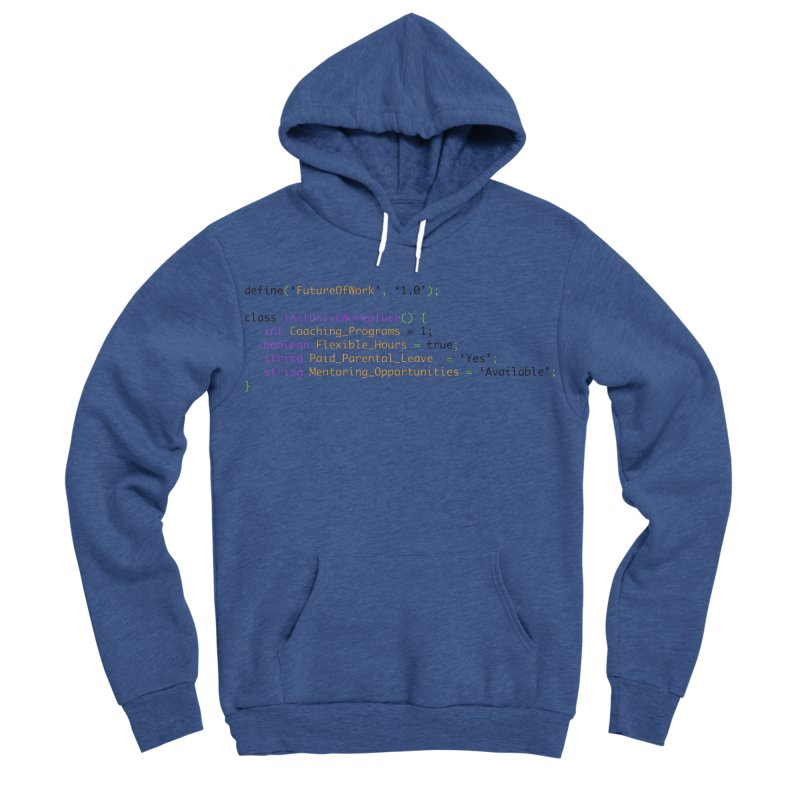 Future of work and inclusive workplace Men's Sponge Fleece Pullover Hoody by Women in Technology Online Store