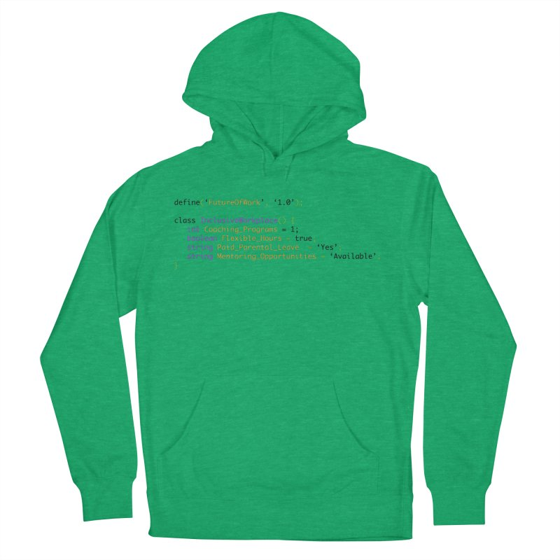 Future of work and inclusive workplace Men's French Terry Pullover Hoody by Women in Technology Online Store