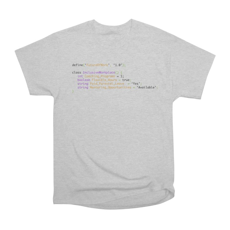 Future of work and inclusive workplace Men's Heavyweight T-Shirt by Women in Technology Online Store
