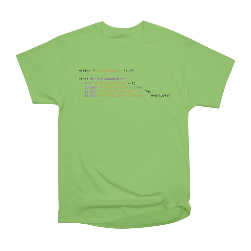 Future of work and inclusive workplace Women's Heavyweight Unisex T-Shirt by Women in Technology Online Store