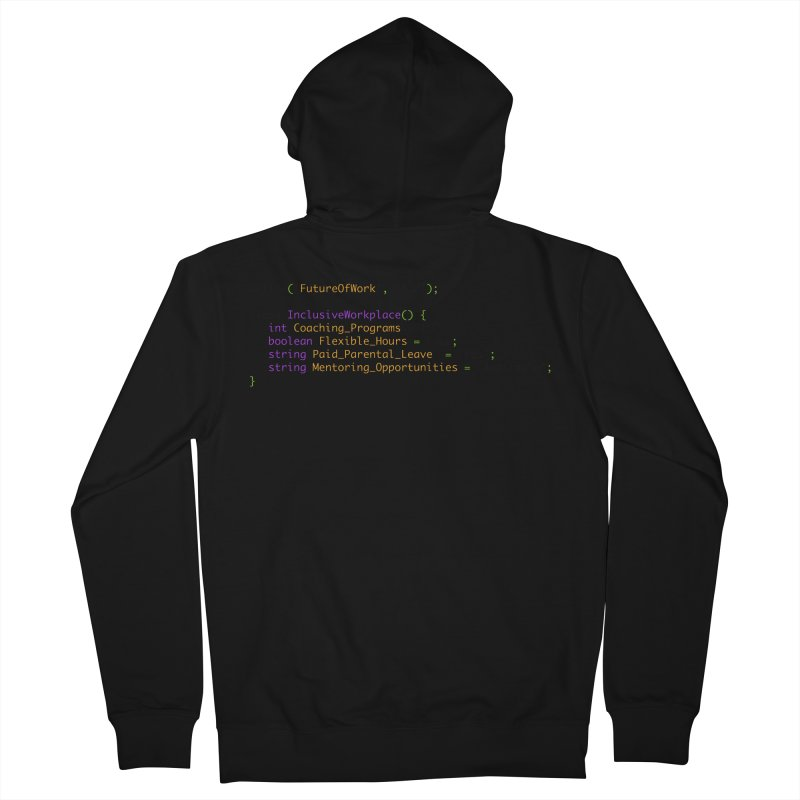 Future of work and inclusive workplace Women's French Terry Zip-Up Hoody by Women in Technology Online Store