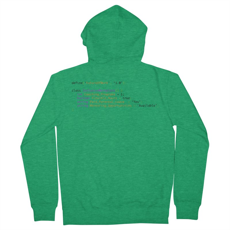 Future of work and inclusive workplace Men's Zip-Up Hoody by Women in Technology Online Store