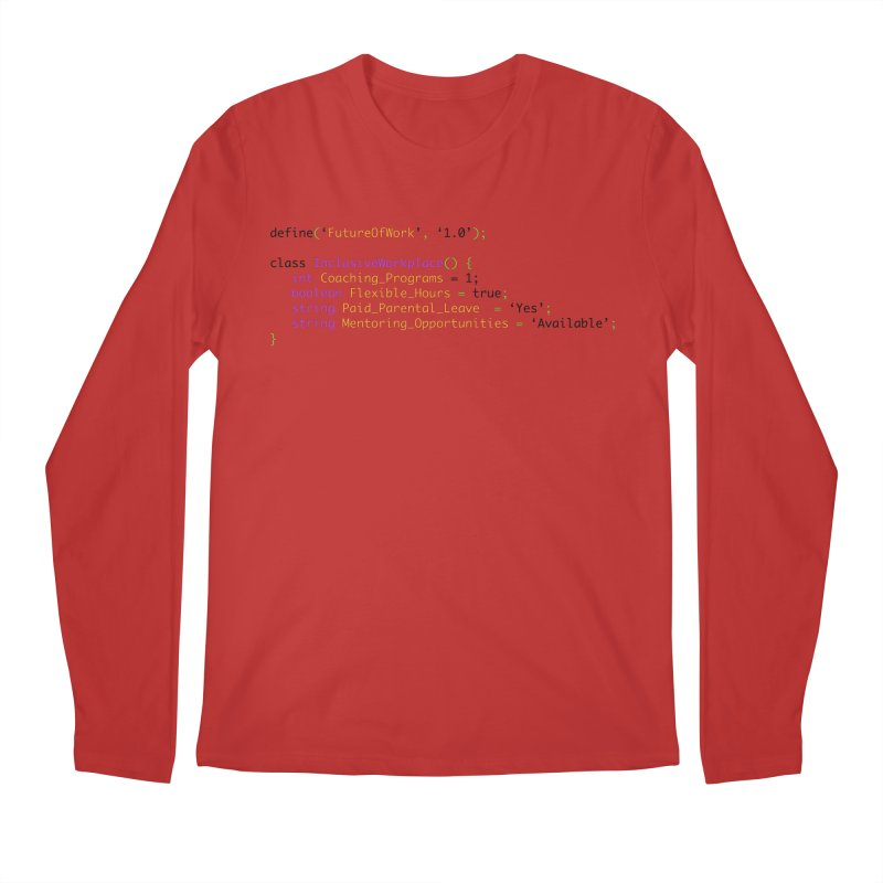 Future of work and inclusive workplace Men's Regular Longsleeve T-Shirt by Women in Technology Online Store