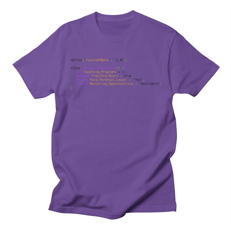 Future of work and inclusive workplace Men's Regular T-Shirt by Women in Technology Online Store