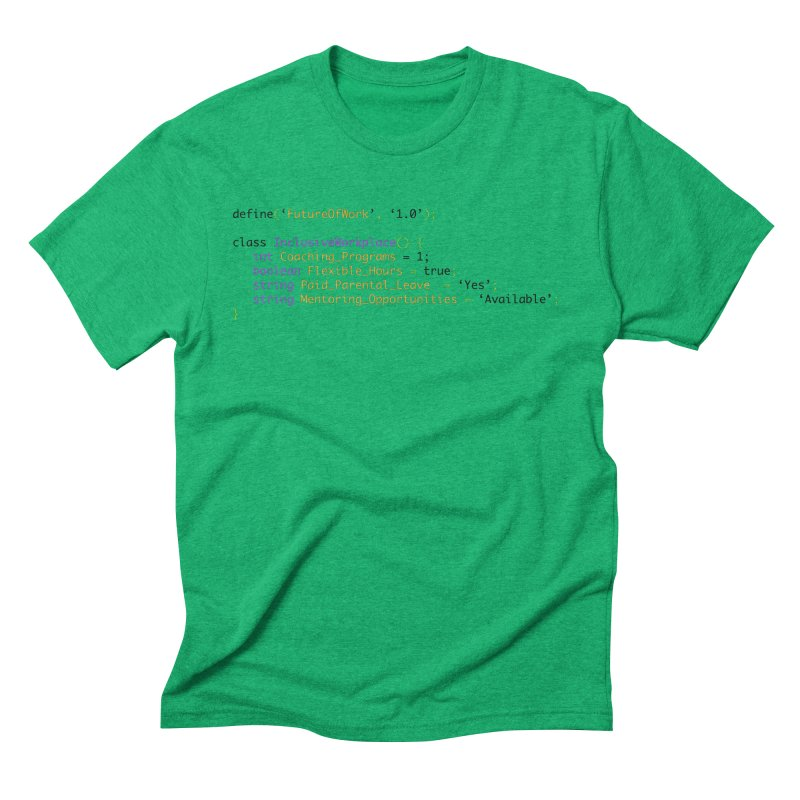 Future of work and inclusive workplace Men's Triblend T-Shirt by Women in Technology Online Store