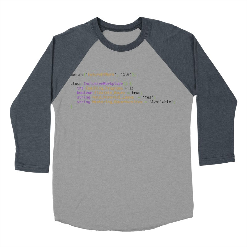 Future of work and inclusive workplace Women's Baseball Triblend Longsleeve T-Shirt by Women in Technology Online Store