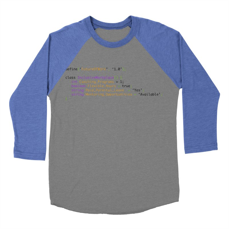 Future of work and inclusive workplace Men's Baseball Triblend Longsleeve T-Shirt by Women in Technology Online Store