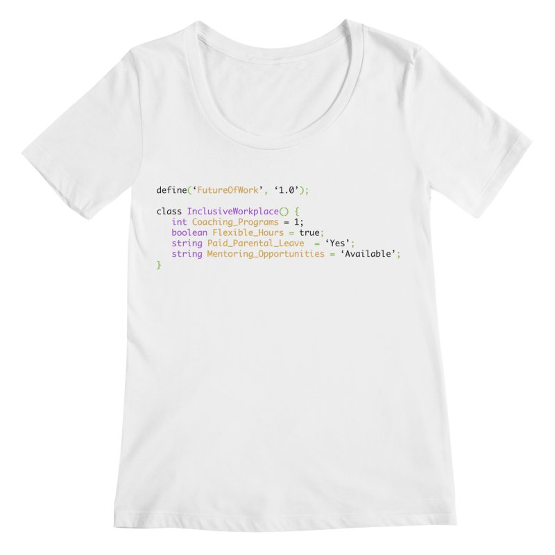 Future of work and inclusive workplace Women's Regular Scoop Neck by Women in Technology Online Store