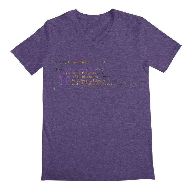Future of work and inclusive workplace Men's Regular V-Neck by Women in Technology Online Store